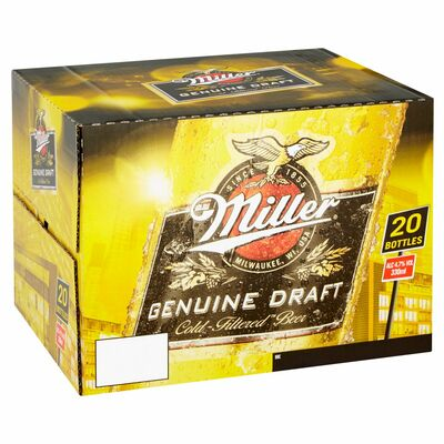 MILLER BOTTLE PACK 20 X 330ML