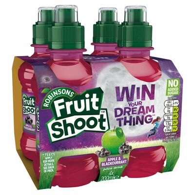 Robinsons Fruit Shoot Blackcurrent & Apple No Added Sugar Multi Pack 4 x 200ml