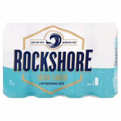 ROCKSHORE LAGER CAN PACK 8 X 500ML