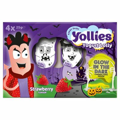 Yollies Strawberry 4 Pack 100g
