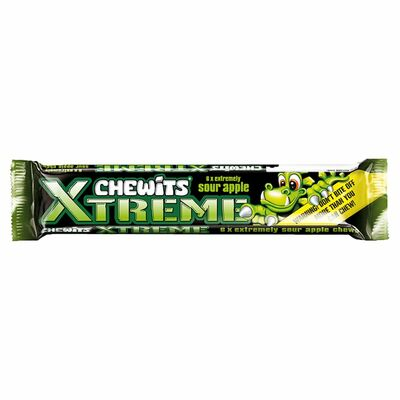 Xtreme Chewits Sour Apple 34g