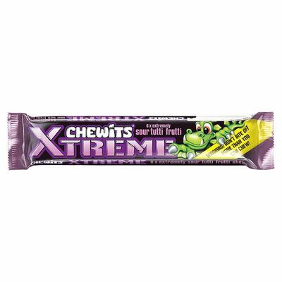 Xtreme Chewits Sour Tutti Fruitti 34g