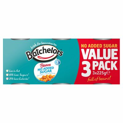 Batchelors Sugar Free Baked Beans 3 Pack 225g