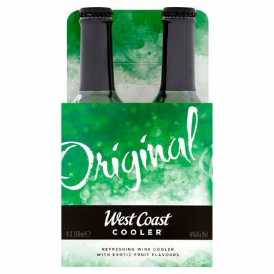 West Coast Cooler Cluster 4 Pack 250ml