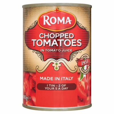 Roma Chopped Tomatoes 400g