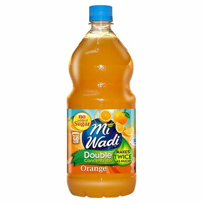 Mi Wadi No Added Sugar Double Concentrate Orange 1ltr