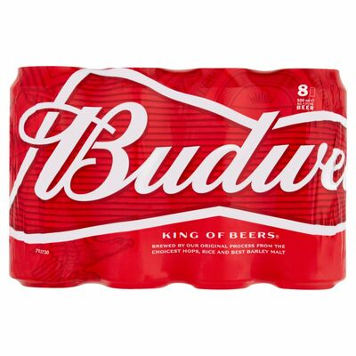 BUDWEISER CAN PACK 8X500ML