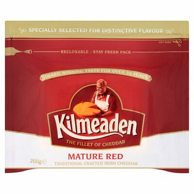 Kilmeaden Mature Red Cheddar Cheese 200g