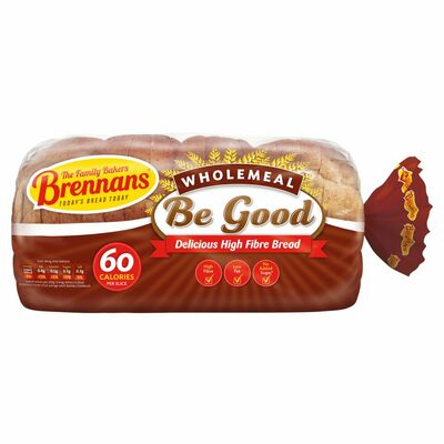 Brennans Be Good Wholemeal Bread 600g