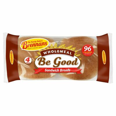 Brennans Be Good Wholemeal Sandwich Bread 160g