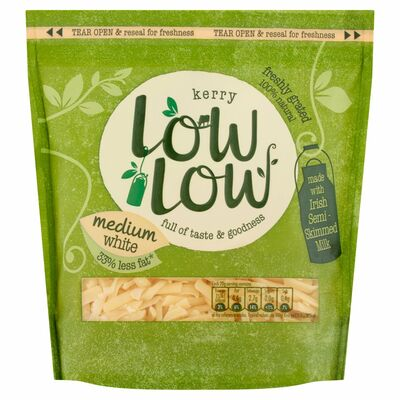 Low Low Grated Cheese White 200g