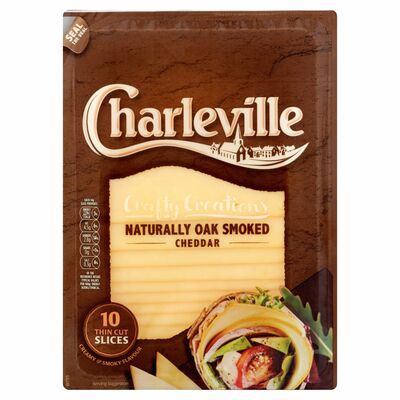 Charleville Slices Oak Smoked Cheddar Slices 140g