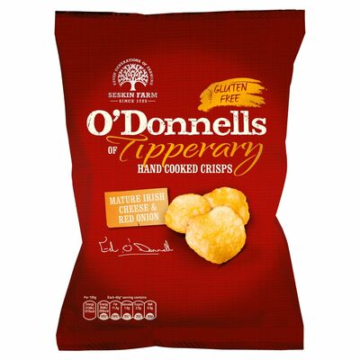 O'Donnells of Tipperary Cheese & Onion Crisps 125g