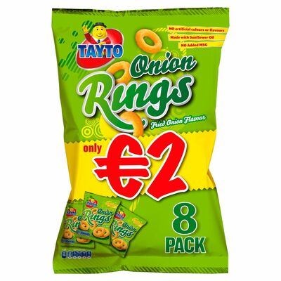 Tayto Onion Rings 7 Pack 140g