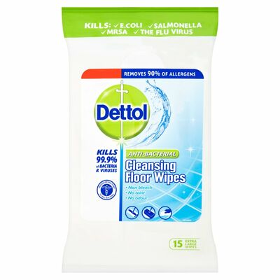 Dettol Floor Wipes Antibactrial 15pce
