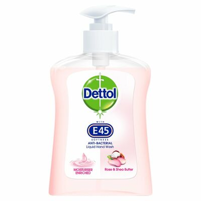 Dettol With E45 Hand Wash Lotus Flower 250ml