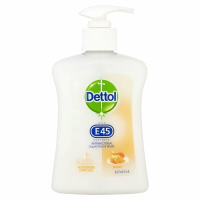 Dettol With E45 Hand Wash Honey 250ml