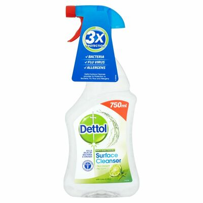Detol Antibacterial Cleaner Lime And Mint 750ml