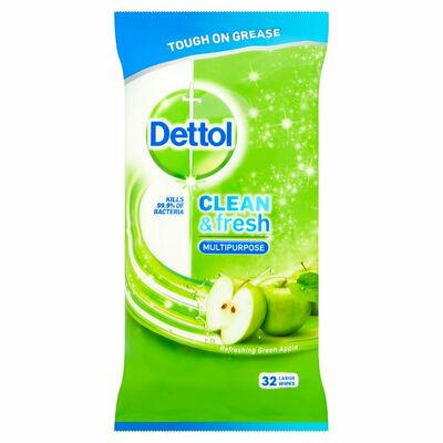 Dettol Cleaning Wipes Power & Fresh Apple 32pce
