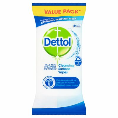 Dettol Antibacterial Surface Wipes 84pce