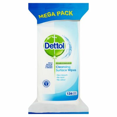 Dettol Antibacterial Surface Wipes 126pce