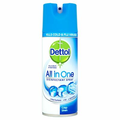 Dettol Aio Disinfectant Spray Crisp Linen 400ml