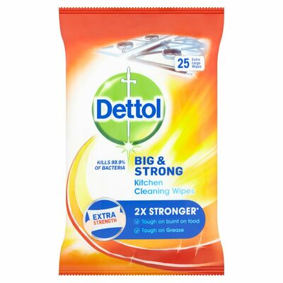Dettol Big & Strong Kitchen Wipes 25pce