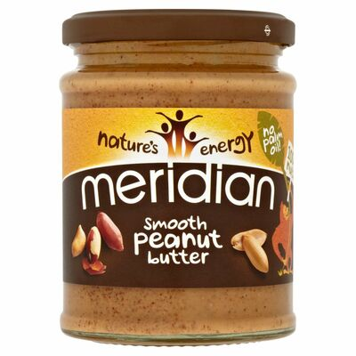 MERIDIAN SMOOTH PEANUT CRUNCHY NO SALT 280G
