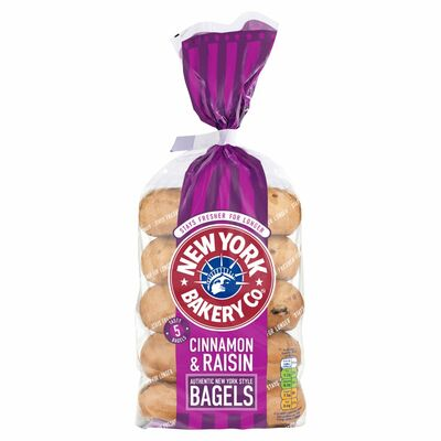 New York Cinnamon & Raisin Longlife Bagels 425g