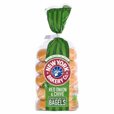 New York Onion & Chive Bagels 425g