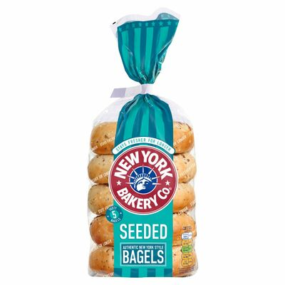New York Bakery Seeded Bagels 425g