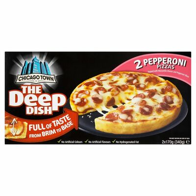 Chicago Town Deep Dish 4 Cheese Pizza 2pk Centra