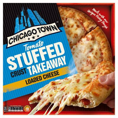 Chicago Town Takeaway Stuffed Crust 4 Cheese 630g