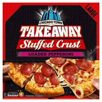 Chicago Town Takeaway Stuffed Crust Pepperoni Pizza645g