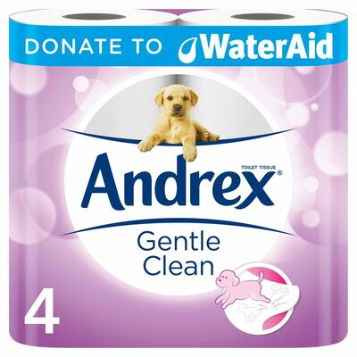Andrex Gentle Clean Toilet Tissue 4Roll