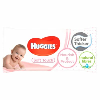 Huggies Baby Wipes Soft Touch 56pce