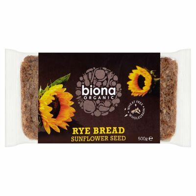 Biona Organic Bio Fit Rye & Sunflower Seed Bread 500g