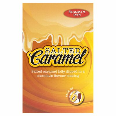 Franco's Salted Caramel Lolly 6 Pack 480g