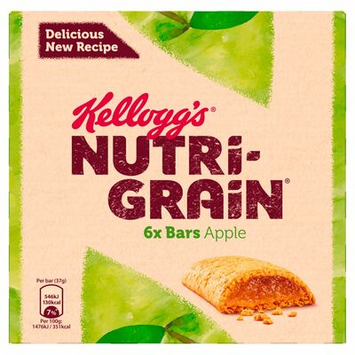 Kellogg's Nutri Grain Apple 6 Pack 222g