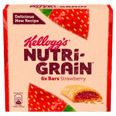 Kellogg's Nutri Grain Strawberry 6 Pack 222g