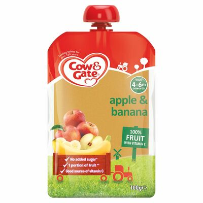 Cow & Gate Apple & Banana Fruit Pouch 100g