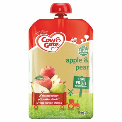 Cow & Gate Apple & Pear Fruit Pouch 100g