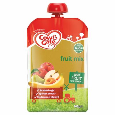 Cow & Gate Fruit Mix Fruit Pouch 6 Pack 100g
