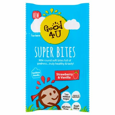 Good4U Superbites Strawberry & Vanilla Kids 20g