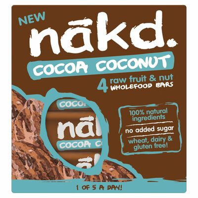 Nakd Cocoa Coconut 4 Pack 140g