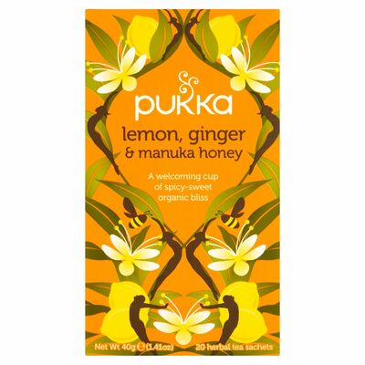 Pukka Organicanic Lemon Ginger & Manuka Honey Tea 40g