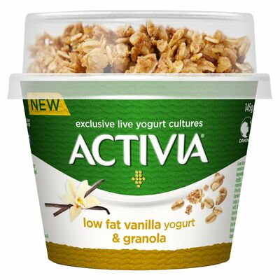 Activia Breakfast Topper Vanilla And Granola 165g