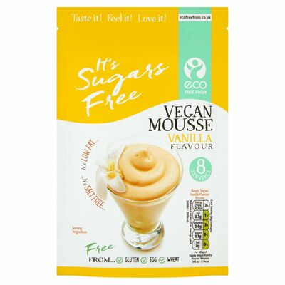 Eco Free From Vanilla Sugar Free Vegan Mousse 160g