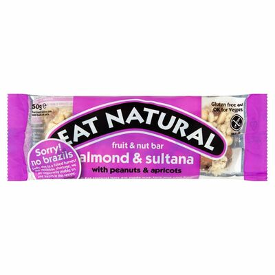 Eat Natural Brazil Nuts. Sultanas & Almond 50g