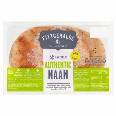 Fitzgeralds Large Authentic Naan 260g